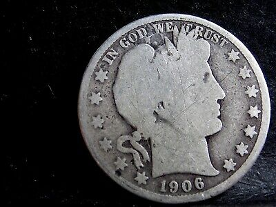 1906 Barber (Liberty Head) Half Dollar - 50 Cents