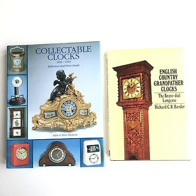 Collectable Clocks 1840-1940 & English County Grandfather Clocks Vintage Books