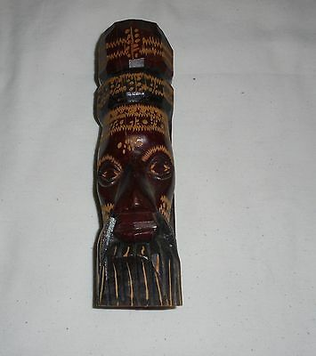 Old Vintage Carved Wood Wooden Carving Jamaican Man  Statue Heads