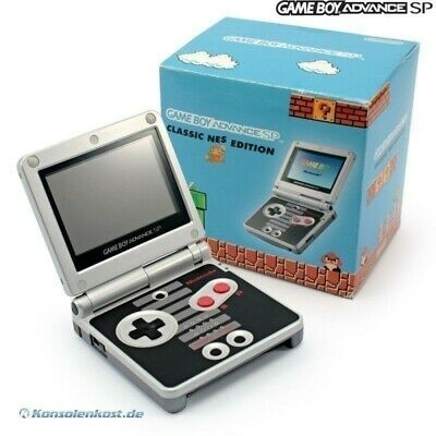 GameBoy Advance console GBA SP Classic NES Edt + power supply boxed Box damaged