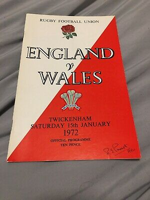 1972-England V Wales-Five Nations-International Rugby Union Programme
