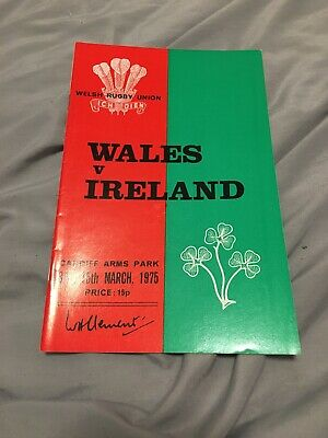 1975-Wales V Ireland-Five Nations Champions-International Rugby Union Programme