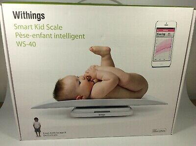 Withings Smart Kid Scale Baby to Age 8 WS-40 White Wi-Fi NIB