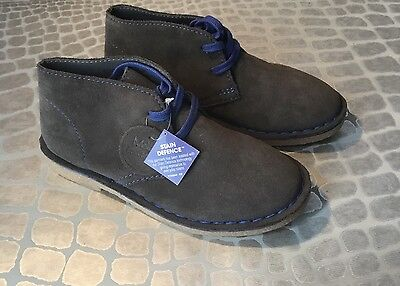 New Marks And Spencer Boys Suede Lace Up Shoes Size Uk Kids 13