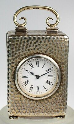 Vintage Miniature Silver Carriage Clock Circa 1900