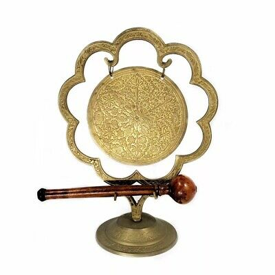 Vintage brass gong small dinner gong