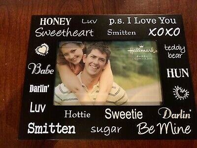 HALLMARK LOVE Words Photo Frame 4x6 photo picture NEW