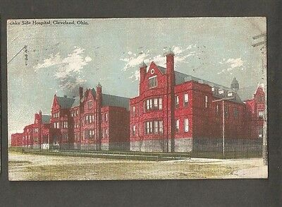Vtg Postcard Lake Side Hospital Cleveland Ohio OH 1915