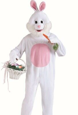 Easter Funny Bunny Costume Adult Deluxe Plush Furry Rabbit Mascot Cosplay Fast