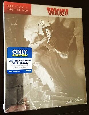 DRACULA 1931 Bela Lugosi Blu-Ray Exclusive Limited Edition STEELBOOK w/ PET Slip