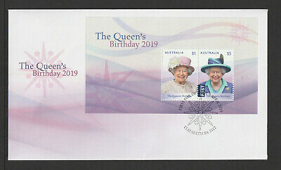 Australia 2019 : The Queen's Birthday 2019, First Day Cover with Mini-Sheet