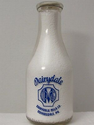 RPQ Milk Bottle Dairydale Milk Co Dairy Meyersdale PA SOMERSET CO WHIP OUR CREAM