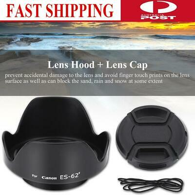 ES-62II Replacement Lens Hood Canon 50mm f/1.8 II with Lenses Cap Black AU STOCK