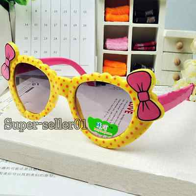 Lovely kids sunglasses for children safety goggles bow parim UV 400 Cute 2019