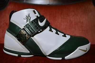 6b249a2a6a7 Nike Zoom Lebron 5 SVSM High School Home Sample PE PROMO PLAYER Promo Size  16