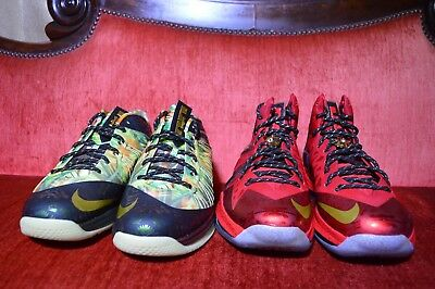 3d2e2af5c40 Nike Air Max LEBRON X 10 P.S. ELITE CELEBRATION CHAMPIONSHIP PACK MVP GOLD  12