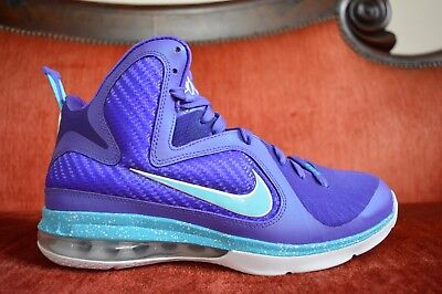 buy popular 6c291 9eb13 WORN 1X Nike Lebron 9 IX Summit Lake Hornets 469764 500 Basketball Shoe  Size 9.5