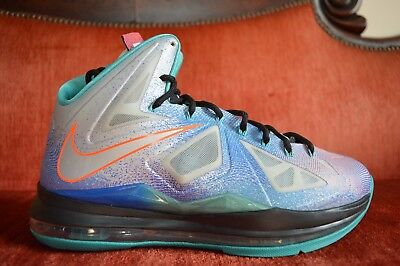 0901c3f20356 CLEAN Nike LeBron X 10 Re-Entry Pure Platinum Size 9.5 541100 008 OG ALL