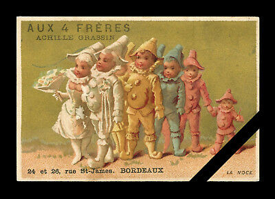 Antique French Victorian Trade Card:  Original Bordeaux, France  Early 1900's