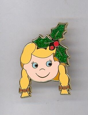 Disney Disneyland Cinderella with Holly Small World Holiday Mystery LE 500 Pin