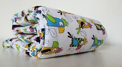 Gooseberry Baby Cot Crib Bumper Cotton Padded Parrots 210 x 30 cm
