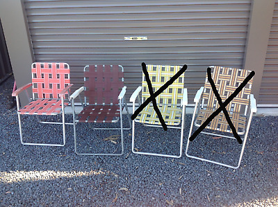 Vintage Fold Up Chair - Vintage Camping Chair - Retro  - One Only - Caravan Seat