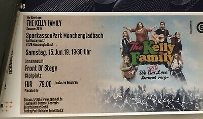 "1x FOS Tickets 15.06. The Kelly Family Mönchengladbach ""we give love"""