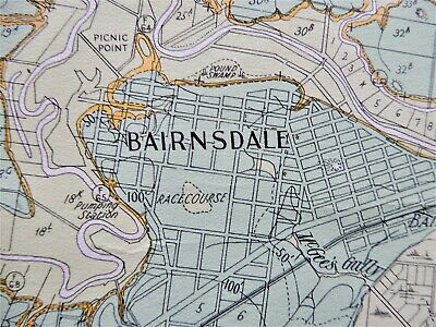 [Map]. EASTON, J.G. Bairnsdale District Geological and Topographical Map. 1942.