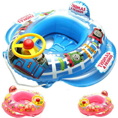 Thomas Train Baby Kids Toddler Swimming Pool Boat Ring Raft Float Tube Seat Aid