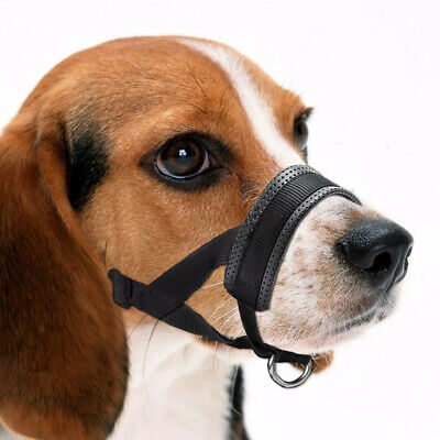 Pet Nylon Adjustable Mask Bark Bite Soft Mouth Muzzle Grooming Anti Stop Chewing