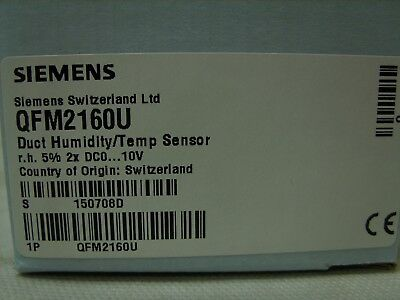 SIEMENS HVAC Duct Humidity Temperature Sensor - QFM2160U - 24VAC NEW