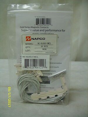 NAPCO - Alarm System Gold Series Magnetic Contacts - 10 Pack ~ NC-SL050-UMCL