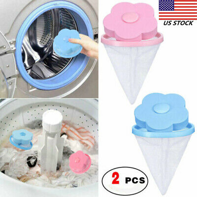 2 PCS Floating Pet Fur Catcher Laundry Lint Pet Hair Remover For Washing Machine