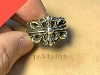 1eb3472eb59 CHROME HEARTS DOUBLE Floral Cross Ring