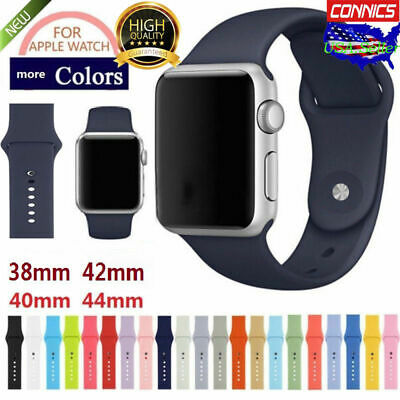 Fr Apple Watch Series 1 2 3 4 38mm42mm 40mm44mm Sport Silicone iWatch Band Strap