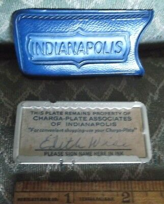 """vintage """"Charga-Plate"""" Service Charge Card? Indianapolis Indiana souvenir"""