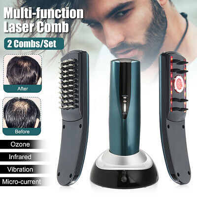 Laser Treatment Power Grow Comb Stop Hair Loss Regrow Therapy Massage Comb