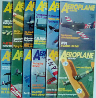 Aeroplane Monthly Magazine 1984 January - December SELECT YOUR ISSUE FREE POST