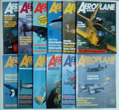 Aeroplane Monthly Magazine 1986 January - December SELECT YOUR ISSUE FREE POST