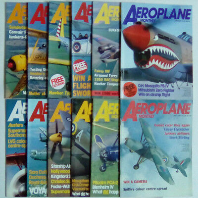 Aeroplane Monthly Magazine 1987 January - December SELECT YOUR ISSUE FREE POST