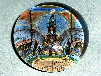 Rare Antique Victorian International Exhibition Glass Paperweight, 1852