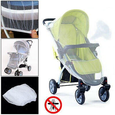 Stroller Pushchair Pram Mosquito Fly Insect Net Mesh Buggy Cover for Baby Safe