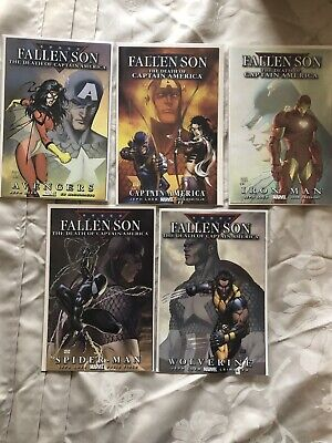 Fallen Son: The Death Of Captain America Michael Turner Covers Five Issue Set NM