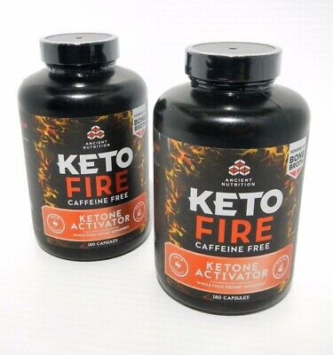 2 Ancient Nutrition Keto Fire Ketone Activator 360 Capsules Total Exp 12/2020