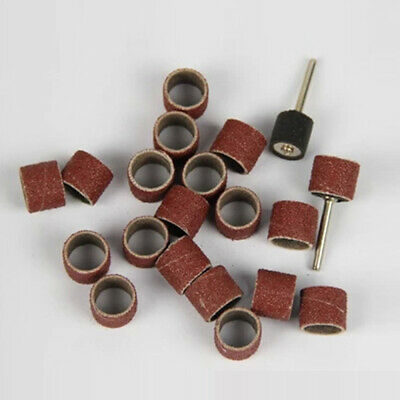 """30 Pcs Sanding Bands 1/2"""" 120 180 240 320 Grit Drums Sleeves For Rotary Tools"""