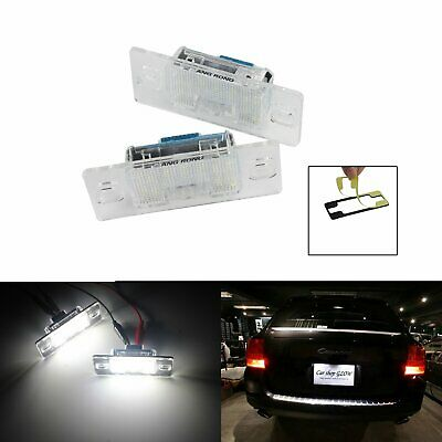 White LED License Number Plate Light Lamps For Porsche Cayenne 955 957 Canbus