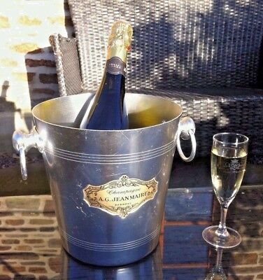 VINTAGE French Champagne ICE  BUCKET A.G. JEAN MAIRE  WEDDINGS  WINE COOLER