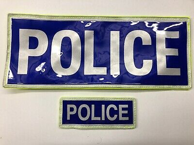 Ex Police PCSO Reflective Velcro Badge Used Patch Printed Collectors Obsolete