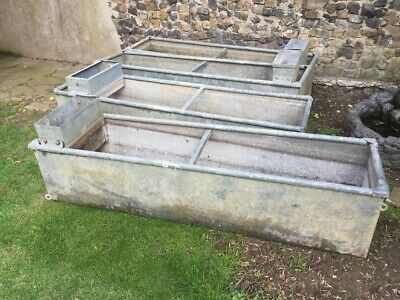 Vintage galvanised trough Or Planter Great Quality 6ft