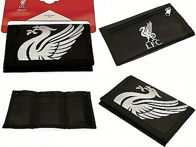 Liverpool Fc Nylon Club Crested Money Wallet Coin & Credit Id Card Holder Lfc Rt